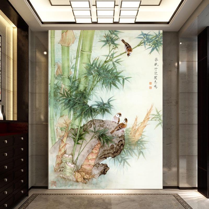 Moderne vogel behang promotie winkel voor promoties moderne vogel behang op - Corridor schilderen ...