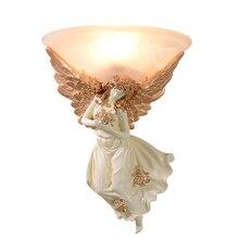 Европейский стиль настенный светильник Настенный светильник спальня ночники светодиодный Ангел гостиная ТВ стены освещения проходов лестницы