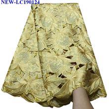 Новое поступление швейцарское хлопчатобумажное кружево ткань высокого качества швейцарская вуаль кружевная ткань вышивка африканская сухая хлопковая кружевная ткань FG-011
