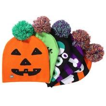 купить New Fashion Ghost Pumpkin Skull Led Halloween Hat Glowing Halloween Party Hat Children's Adult Hat Party Supplies With Lamp Cap по цене 199.64 рублей