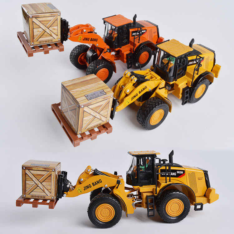 1:50 alloy engineering vehicles, high simulation model Wheeled forklift Truck,children's educational toys, free shipping