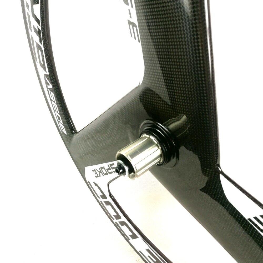 BIKEDOC Carbon 3 Speichen rad 700c Festrad Stiff Carbon Laufradsatz ...