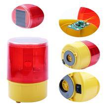 Аварийный светодиодный предупреждаПредупреждение красный светильник на солнечной батарее для ночного строительства дороги, конусный сигнал, безопасный дорожный светильник, мерцающий маяк, лампа