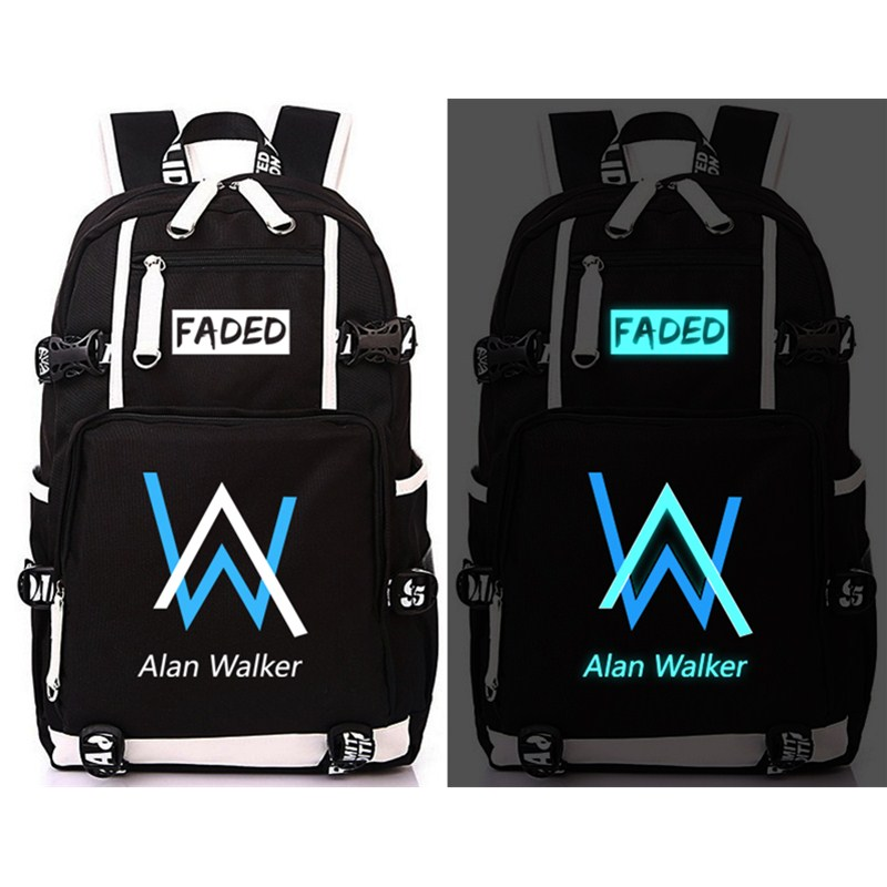 Alan Walker Faded School Bag Backpack Men Women Unisex Boys Girls Casual Bag Glow in the DarkAlan Walker Faded School Bag Backpack Men Women Unisex Boys Girls Casual Bag Glow in the Dark