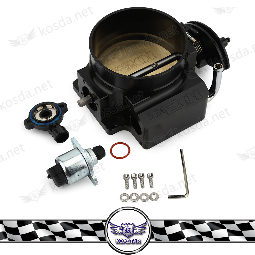 Black Aluminum 102mm Throttle Body with TPS Throttle Body Position Sensor For GM LS1 LS2 LS3 LS6 LSX TB1021S pqy racing free shipping 92mm throttle body tps iac throttle position sensor for lsx ls ls1 ls2 ls6 pqy6937 5961