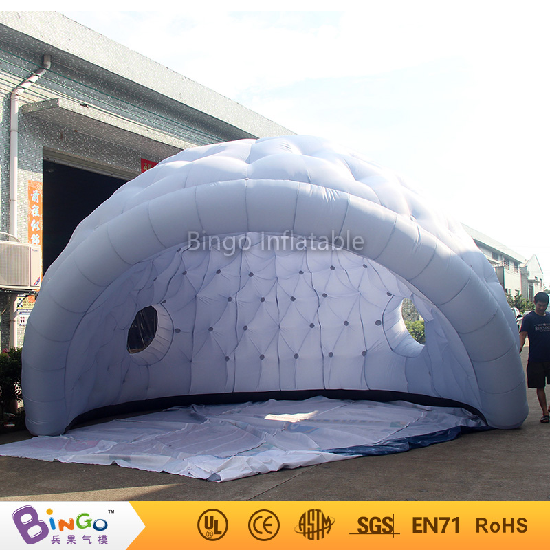 Newest 6m marquee igloo tent,inflatable dome tent with two holes,inflatable conapy golf for event BG-A1060 toytent 2016 outdoor inflatable igloo tent white inflatable shell tent inflatable air dome bingo factory direct sale bg a1191 toy tent