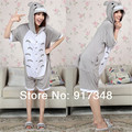 My Neighbor Totoro Summer  for Adults Cartoon Animal Cotton Onesies Pajamas Jumpsuit Hoodies Cosplay Costumes for Adult