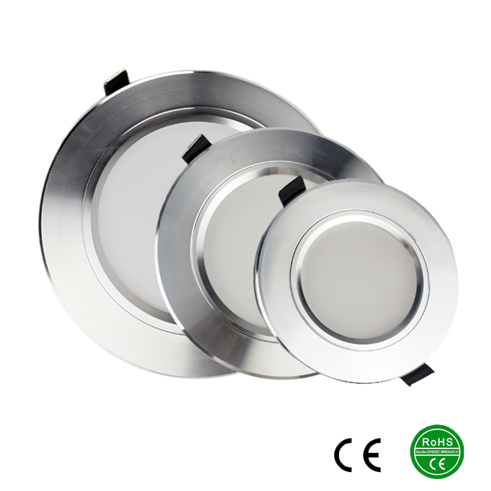 Silver high power led downlights 5730SMD 10W 15W 20W 220V ...