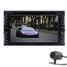 Universal Double 2 Din Universal Car Dvd Player Bluetooth Auto Radio Video Audio Stereo with 6.2″Inch Analog TV+Free Camera