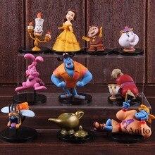 ac6aecfd55d Figura de acción Aladino belleza y la Bestia bella Kawaii lindo modelo  coleccionable juguete regalo para niños 5 unids/set