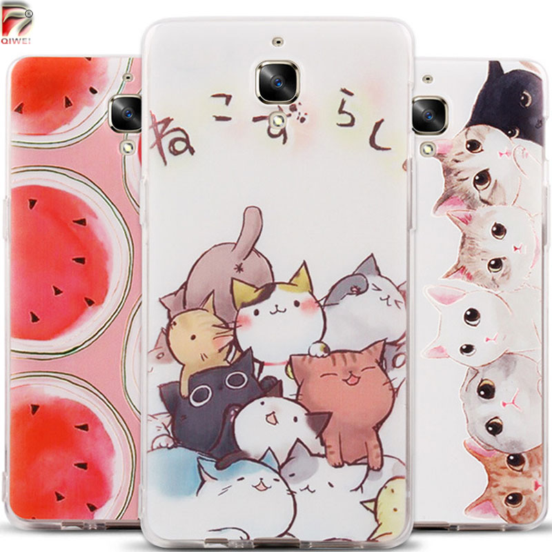 Oneplus 3T Case Silicone 3D Fruit Landscape Back Phone Cases For One Plus 3T Cover TPU Soft A3003 Funda One Plus 3 Hoesje Capa