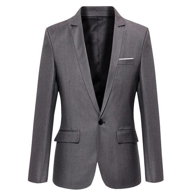 b8d14408fe Blazer Men 2017 New Arrival Slim Fit Mens Suit Jacket Brand Design Single  Button Men's Suit