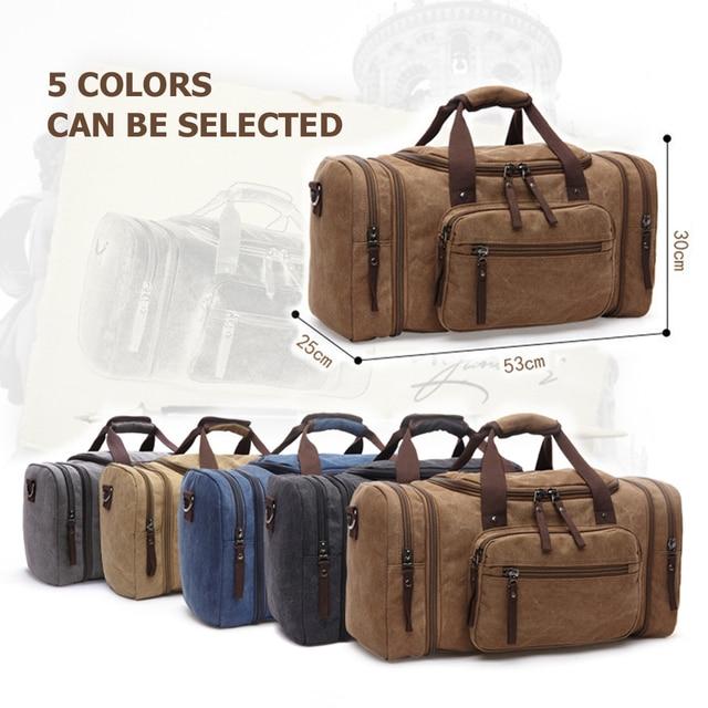 Markroyal lona sacos de viagem grande capacidade carry on sacos de bagagem dos homens mochila de viagem tote fim de semana saco dropshipping 5