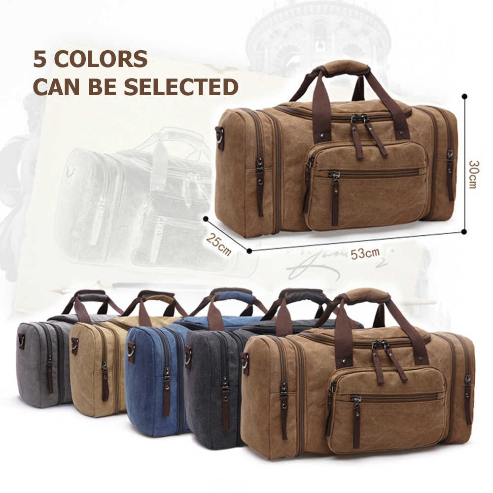 54eeb8146 ... MARKROYAL Soft Canvas Men Travel Bags Carry On Luggage Bags Men Duffel  Bag Travel Tote Large ...
