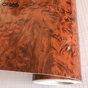 Image 4 - 高光沢のある木目車インテリアdiyビニールステッカーフィルムサイズ 10/20/30/40/50CMX152CM