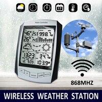 Professional Метеостанция беспроводной Крытый открытый скорость ветра/направление дождь 868 мГц Температура Влажность Forecaster прогнозировать