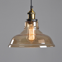 E27 American Country Retro Vintage Glass Lampshade Pendant Light Glass Lamp For Bar Clothes Shop Pendant