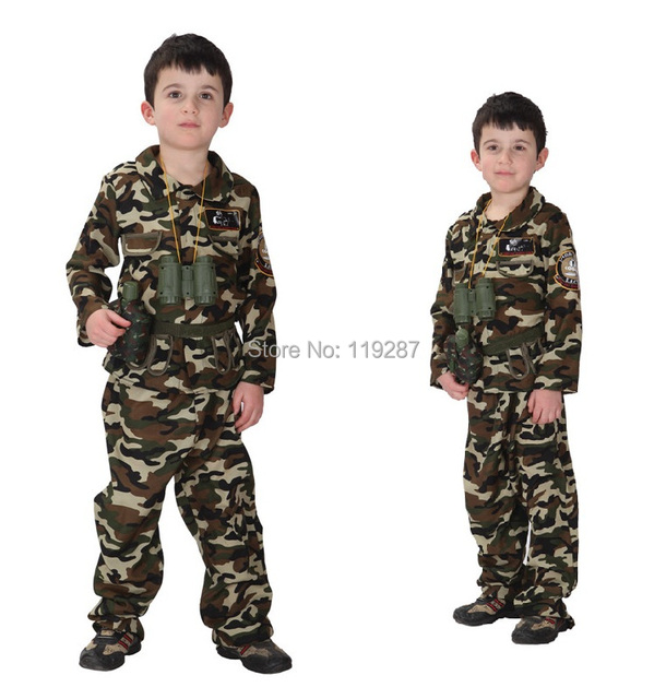shanghai story children stage army costumes halloween costume special forces handsome soldier jacket pants camouflage clothing - Halloween Army Costumes