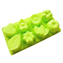 3D Food Grade Silicone Cake Mold 8 Cavity Flower Leaves Shape Chocolate Non-Stick Cake Mould Kitchen Bake Cookware DIY Tools