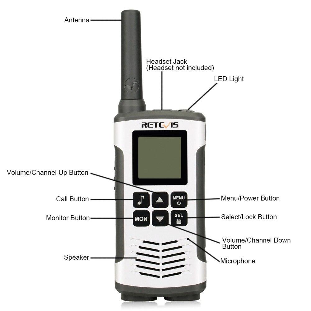 Retevis RT45 PMR Radio Emergency Mini PMR Walkie Talkie 2 pcs Family Use  PMR446 FRS Two-Way Radio Camping/Hunting Walkie-Talkie