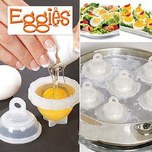 1 Set Hard Boil Egg Cooker 6 Eggies Without Shells