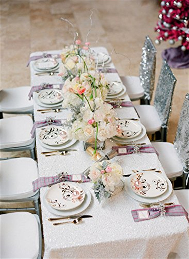 modern table linens promotionshop for promotional modern table  - on sale sequin table cloth sparkly white elegant wedding sequin table linens