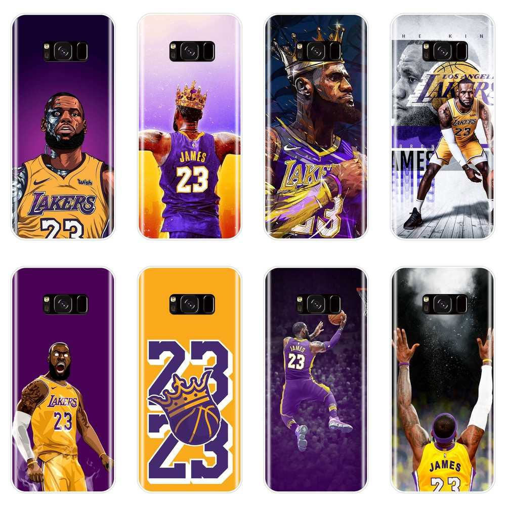 86cd65d3ff8 Basketball Lebron James Phone Case For Samsung Galaxy S8 S9 Plus S5 S6 S7  Edge Silicone