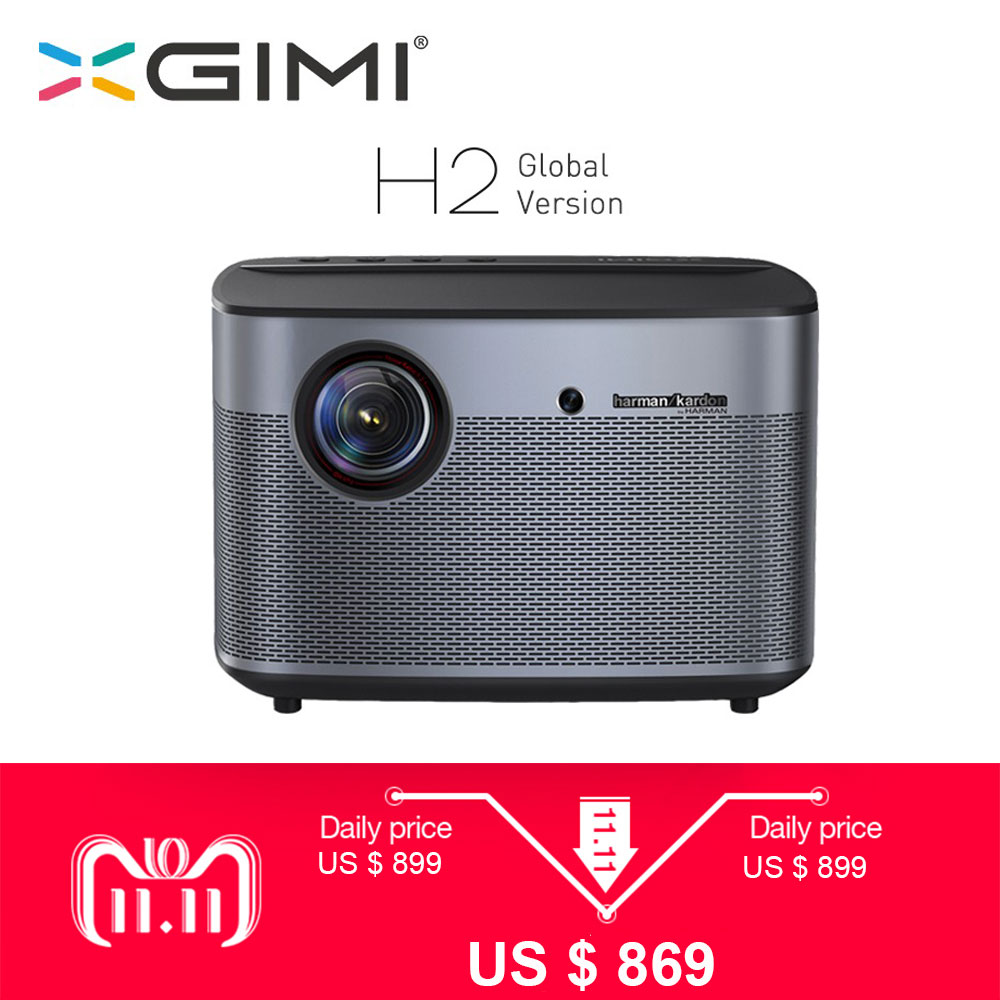 лучшая цена XGIMI H2 Projector 1080P 1350 Ansi Full HD 3D 4K Projector 2GB/16GB Android Bluetooth Airplay Home Theater Proyector