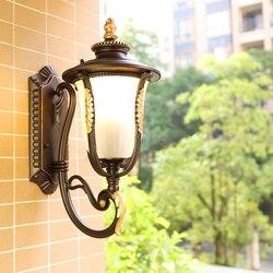 Europejska zewnętrzna wodoodporna kinkiet balkon korytarz korytarz kinkiet schody zewnętrzna ściana taras kinkiet LW527410PY