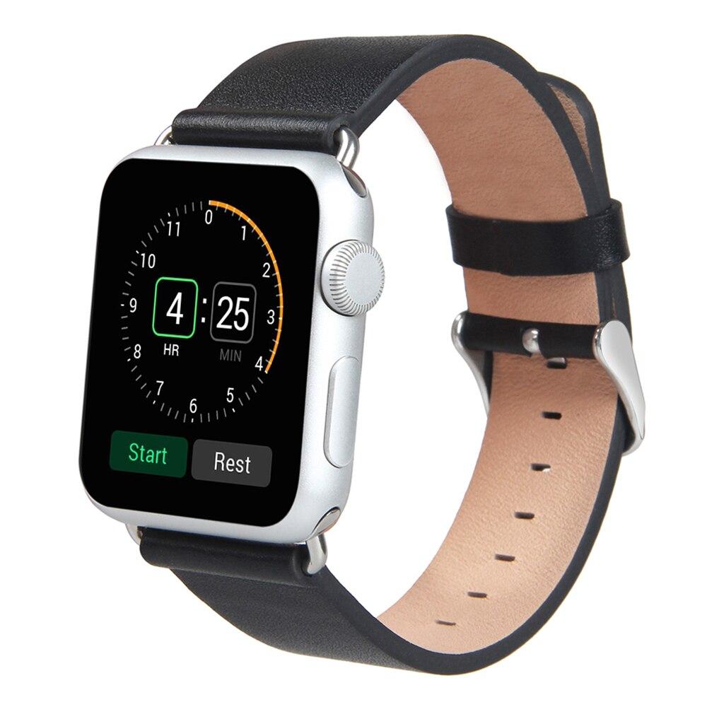 Prix pour V-MORO Nouvelle bande de montre En Cuir De Luxe Pour Apple Bracelets Montres 42mm En Cuir Dragonne Pour Apple iWatch Bande 38mm 42mm