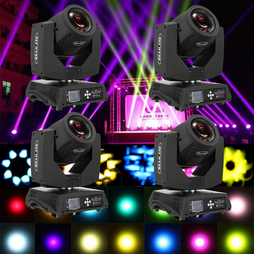 4 PZ 230 w Moving Head Light 14 Colori Osram 7R DJ Stage Festa Di Natale Della Luce DMX 512
