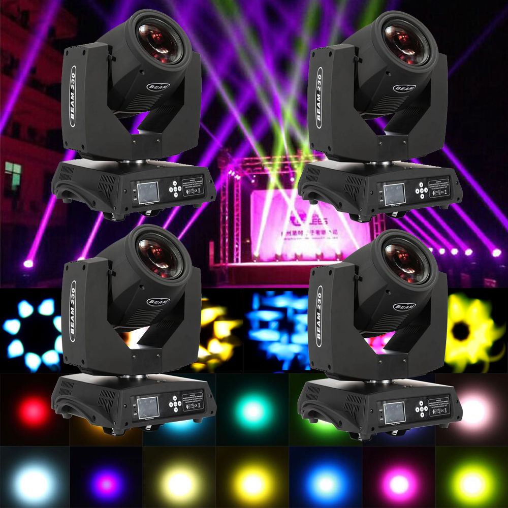 4PCS 230w Moving Head Light 14 Colors Osram 7R DJ Stage Christmas Party Light DMX 512 6pcs lot white color 132w sharpy osram 2r beam moving head dj lighting dmx 512 stage light for party