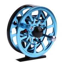 Aluminum Fishing Reels For Winter Ice Fly Fishing Rods Spinning Stainless Steel Simple Wheel Coil Fishing Tackle Tools 2 Colors