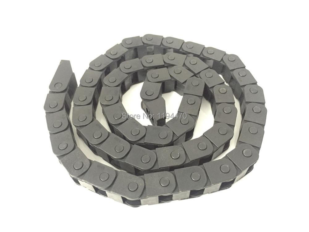1pcs 10x10mm R18 Cable Drag Chain Wire Carrier with End Connector 10mm x 10mm L1000mm 40 for 3D CNC Router Machine 1pcs 15x30mm r28 cable drag chain wire carrier with end connector 15mm x 30mm l1000mm 40 for 3d cnc router machine brand new