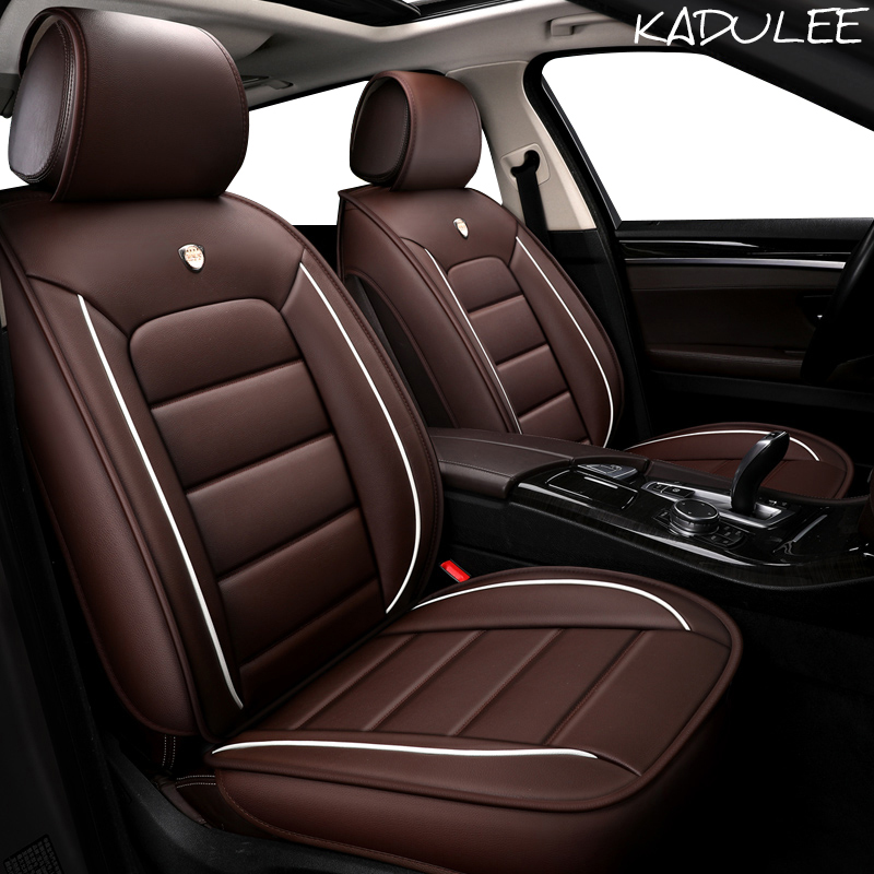 KADULEE pu leather Car Seat Cover for renault clio logan Megane 2 3 Duster Kangoo Kolo