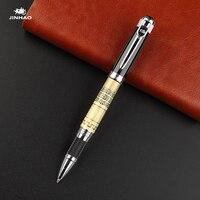 1 шт. JINHAO-189 высококачественная металлическая шариковая ручка с серебряным зажимом
