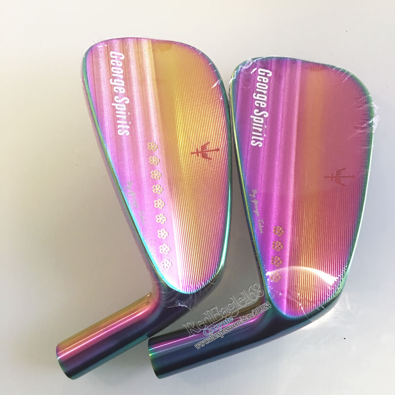 Têtes De Golf George Spirits Sakura MB Forger Douce fer De Golf fers set 4-9 P Golf Club heads aucune fers arbre Livraison gratuite