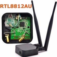 802.11ac ثنائي النطاق 1200Mbps RTL8812AU شبكة لاسلكية WLAN USB واي فاي محول + 6dBi واي فاي هوائي لكالي لينكس/ويندوز 7/8/10