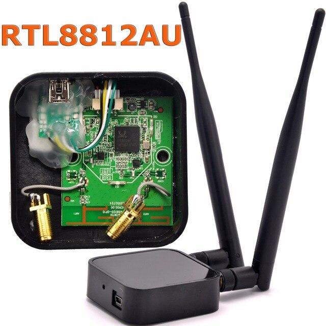802.11ac Dual Band 1200 Mbps RTL8812AU Ağ Kablosuz WLAN USB WiFi Adaptörü + 6dBi WiFi Anten için Kali Linux/Windows 7/8/10