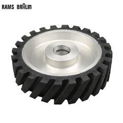 200*50mm roue de Contact en caoutchouc dentelé ponceuse à bande roue de polissage ensemble de bandes abrasives