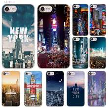 PlusNew York Times Square de moda transparente cubierta de la caja para iPhone XI R 2019 XS Max XR X 4S 5S iPhone 6 6s 7 8 Plus(China)