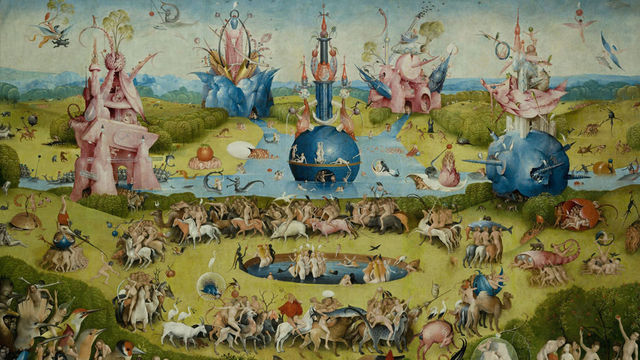 garden of earthly delights poster. The Garden Of Earthly Delights HIERONYMUS BOSCH Fabric Poster 43\