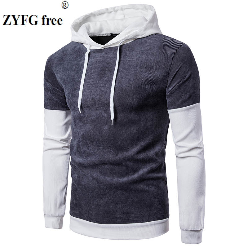 Men autumn winter Fashion patchwork Pullovers Hoodies 2017 New style top Brand Hoodie Mens cotton popular