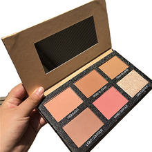 4 Color Makeup Highlighter Palette Illuminator Contouring Face Brighten Concealer Bronzer Glow Cosmetic