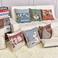 Cotton Linen Throw Decorative PillowCase Cushion Cute Cartoon Moomin emoji pillow Home Decorative Cushion pillowcase