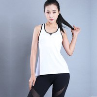 2017 Summer Sexy Mesh Stitching Women Tank Tops Female Dry Quick Loose Fitness Vest Singlet For
