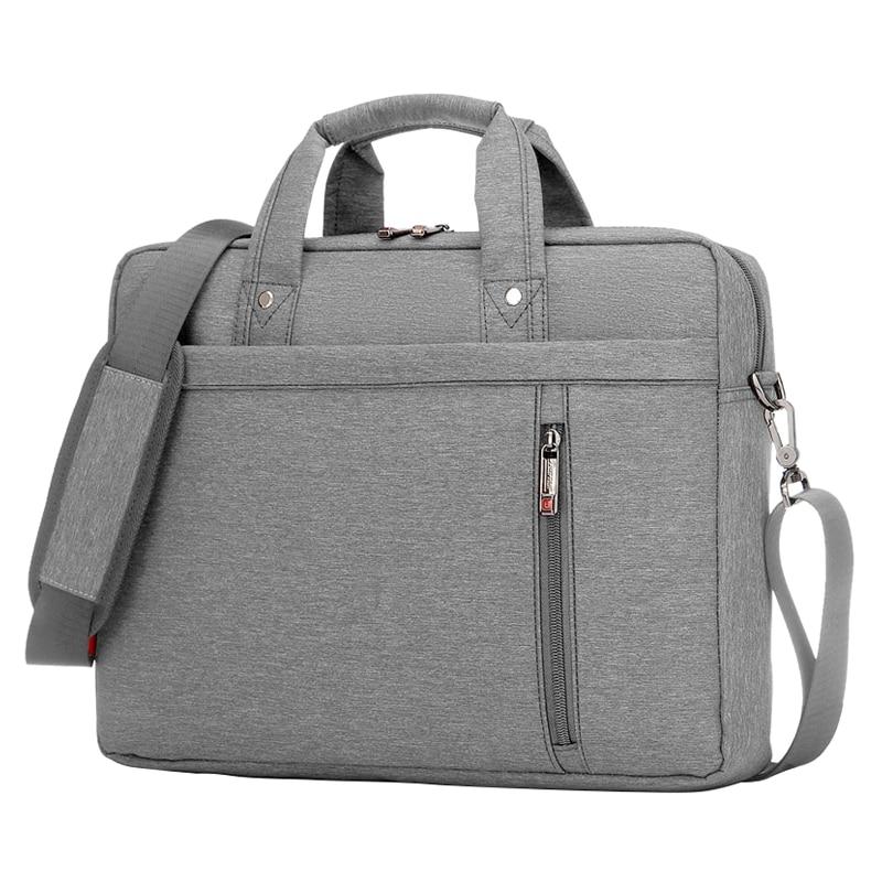 15 Inch big size For Nylon Computer Laptop Solid Notebook Tablet Bag Bags Case Messenger Shoulder unisex men women Durable Gray