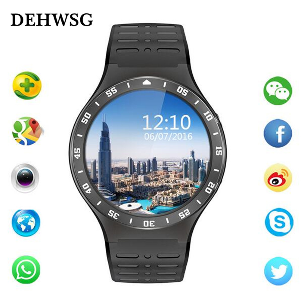 2018 Smart watch GPS Wi-Fi smart watch 3G-call Android smart watch Phone HD camera real-time heart rate monitoring Smart watch