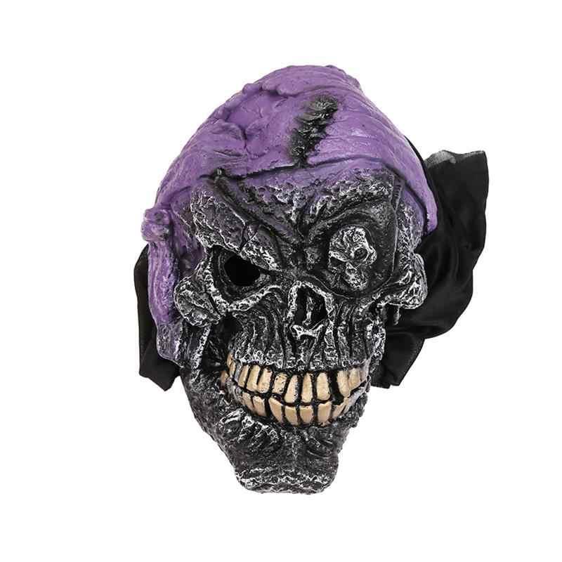 Ужас циклопия человеческий скелет головной убор виниловая маска Страшные Вечерние Маски для лица детская вечеринка смешная Маскарадная маска на Хэллоуин