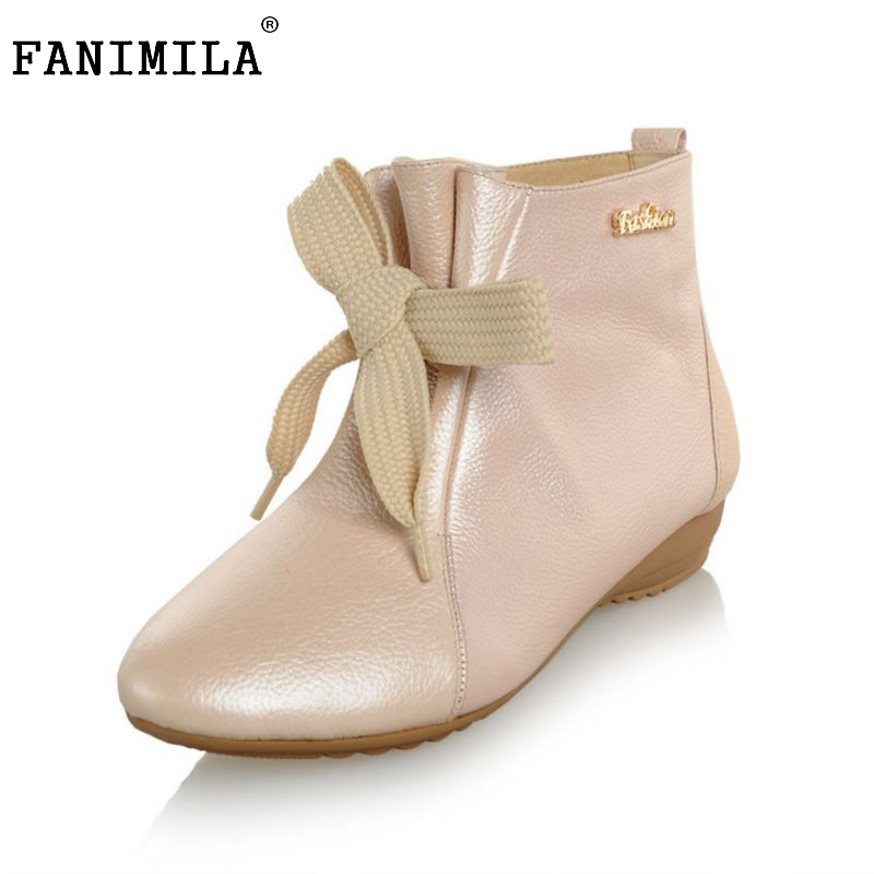 women real genuine leather ankle boots half short boots winter warm botas lady footwear leisure shoes R7465 size 34-39 women real genuine leather flat ankle boots cotton snow half short bota quality warm winter boot footwear shoes r7603 size 34 40